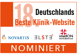 Nominierungslogo Beste Klinik-Website